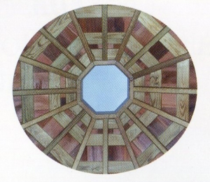 Jack rafters are used in the center of roof sections