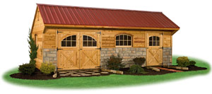 cedar sided providence carriage house storage shed