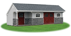 vinyl providence carriage house storage shed