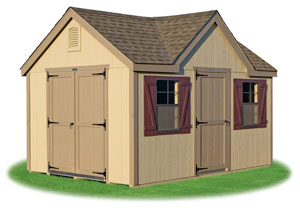 standard victorian storage shed with lp smart side siding