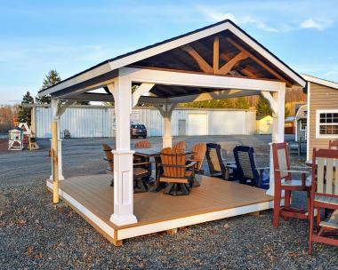 12x14 Vinyl Pavilion With Floor