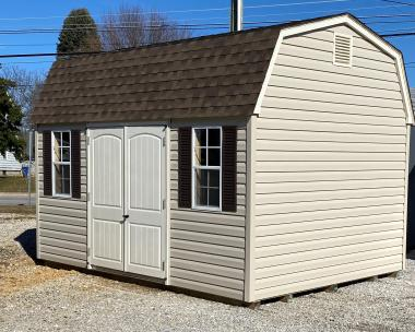 10'x14' Vinyl Dutch Barn with new style Ramp